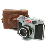 Anny-44 127 Film Camera Hoei 50mm f8 Lens With Original Travel Case (WORKS)