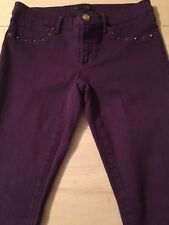 Juicy Couture Purple Super Skinny Jeans Studded Women's Size 27 X 32 Mint!