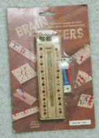 New Brain Testers Wood Game Dice Pegs Out Christmas Stocking Stuffer Age 5 & Up