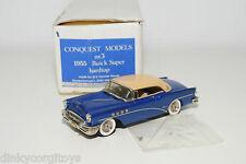 . CONQUEST MODELS 3 BUICK SUPER HARDTOP 1955 MET. BLUE MINT BOXED
