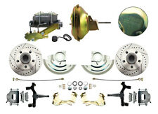 1964 -1972 Chevelle Power Disc Brake Conversion Kit, Drilled & Slotted Rotors