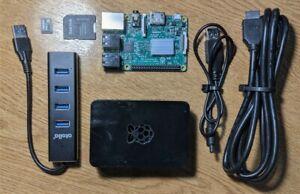 Raspberry Pi 3 Model B V1.2 + Case, 16GB SD Card, Active USB3.0 Hub & HDMI Lead