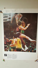 VINTAGE 1976 MONTREAL OFFICIAL COJO OLYMPICS POSTER PENTATHLON & BASKETBALL