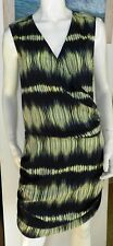 Witchery wrap front graphic print gathered dress size 14 AU