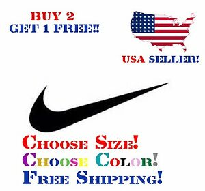 Nike Swoosh Decal Logo Nike Air Swoosh Vinyl Decal Sticker Michael Jordan
