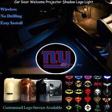 2x New York Giants Logo Car Door Wireless Projector Ghost Shadow CREE LED Lights
