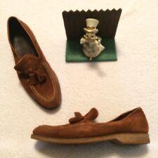 Donald J Pliner Men's Brown Suede Boat Shoes Tassel Slip-on Loafers Size 10.5 M