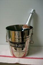 Vintage French Perrier Jouet Champagne Bucket Stirrup handles wine cooler B13