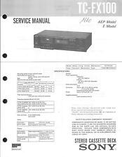 Sony Original Service Manual für TC-FX 100