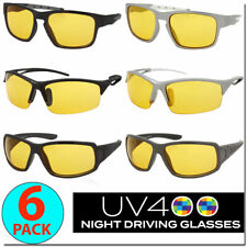 Night Driving Glasses Mens Sport Sunglasses Unisex Style Wrap Style Cycle Glasse