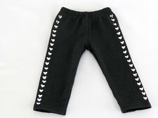 "Black Heart Stud Leggings Fits American Girl 18"" Doll Clothes"