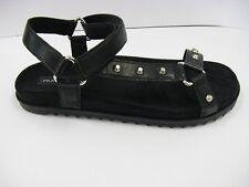 FRAU 91N5 sandalo donna nero anatomico borchie velcro prodotto italiano