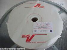 "5 METRI x 25 MM = 1"" Bianco Gancio e Passante in Velcro Sew Su Gancio 5 M & 5 M Loop"