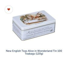 English Teas Selection Alice Adventures Wonderland 100 Tea Bags Gift Tin Sealed