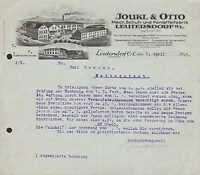 LEUTERSDORF O.L., Brief 1929, Mech. Schuh- u. Pantoffel-Fabrik Joukl & Otto