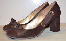 High (3 in. to 4.5 in.) Block Heel Suede Pumps, Classics Heels for Women