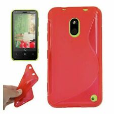 Cover Case Protection BACKCOVER S-LINE for Mobile Phone Nokia Lumia 620 Red