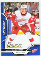 2018-19 Upper Deck Compendium Series 2 BLUE ROOKIE RC Michael Rasmussen