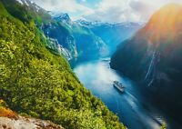 A1 Norwegian Views Poster Art Print 60 X 90cm 180gsm - Lake Travel Gift #16951