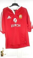 MENS RUGBY SHIRT - BRITISH & IRISH LIONS - L - NEW ZEALAND 2005 - ADIDAS - RED