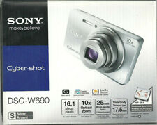 Sony Cyber-shot DSC-W690 16.1MP Digital Camera - Silver