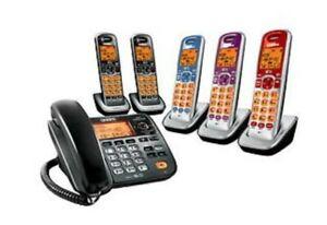 Uniden 6 corded/cordless combo phones bundle Digital DECT 6.0 Handset