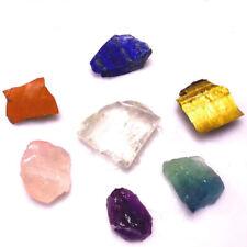 7Pcs Natural Amethyst Lapis Fluorite Rough Crystal Gemstone Healing Chakra kit
