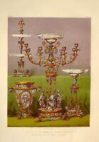 Grande 1862 Exhibition Stampa Smaltato Dessert Servizio Da Elkington & Co London