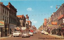 KINGSTON ON CANADA 1958 Princess Street Scene with Old Cars & Stores of the era