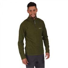 Regatta Mens Montes Half Zip Lightweight Walking Microfleece Jacket Green RMA212