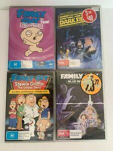 Family Guy - DVD Bundle - 4 DVDs (Uncovered, Stewie Griffin, Blue Harvest, Dark.