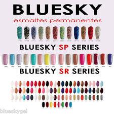 Esmaltes Permanentes Bluesky gel UV/LED  Clasicos, base, top, aceite  -- OFERTA