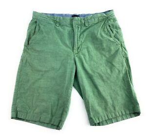 "J. Crew Men's Flat Front 100% Lightweight Cotton 10.5"" Inseam Green Shorts 31"