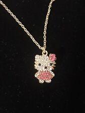 hello kitty necklace Pendant Zirconia Stocking Stuffer Gift Women Kids US Seller