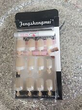 KIT FAUX ONGLES NAIL ART 12 CAPSULES PRET A POSER + COLLE FRENCH NATUREL