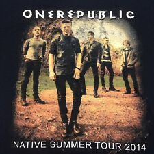 One Republic Native Summer Tour 2014 Black Lg 2-sided T-Shirt Music Rock Concert
