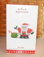 2016 Hallmark Keepsake Ornament Tea Time Santa Teapot 1st Porcelain