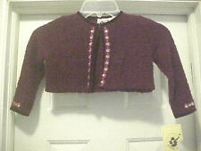 GIRL SIZE 2T BURGUNDY SWEATER EMBROIDERED ROSES By GOODLAD LONG SLEEVE NWT R $52