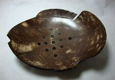 Coconut Shell Soap Dish Thai Handcraft Natural Fish Holder For Bath Leaf Style
