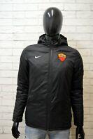 Giacca Uomo Nike Roma Taglia S Giubbotto con Cappuccio Cappotto Nero Jacket Man