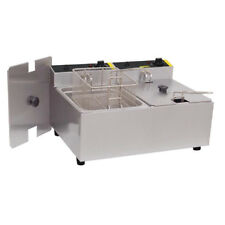 Buffalo L485 Commercial Double Tank Countertop Fryer 2x5 Ltr @Next Day Delivery