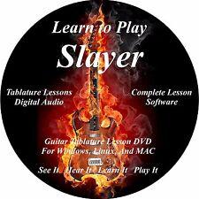 Slayer Guitar TABS Lesson CD 130 Songs + 31 Backing Tracks + BONUS!