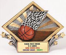 Basketball Diamond Plate Resin Plaque Trophy Award Free Engraving Mrdp03