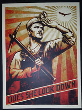 Shepard Fairey High Flyin Bird print Neil Young Americana Signed #Obey poster