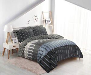 Black Duvet Quilt Cover Bedding Set 100% Egyptian Cotton Double Super King Size
