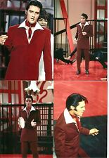 Elvis Presley 7 Photo Set- Burgundy Jacket-1968 Tv Special Production Numbers