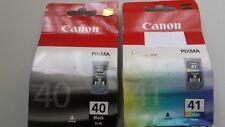 Genuine Canon PG-40 & CL-41 Nero & Cartucce Di Inchiostro a Colori PG40 CL41