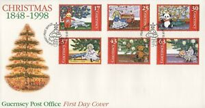 GUERNSEY CHRISTMAS 1848-1998 FIRST DAY COVER FDC - NO ADDRESS