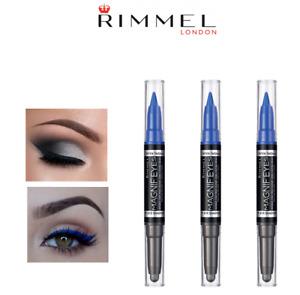 RIMMEL MAGNIF'EYES DOUBLE EYE LINER & SHADOW - 004 DARK SIDE OF BLUE (PACK OF 3)
