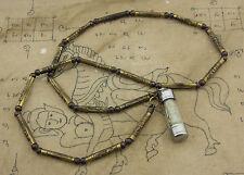 Collier Amulette Thai Benie takrut LP Suk Wat Pak Khlong MaK Thaï Amulet 864